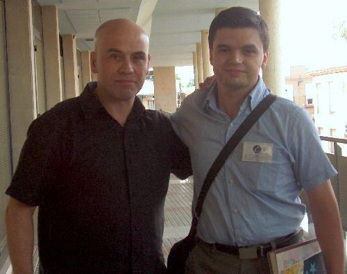 El autor con Javier Negrete
