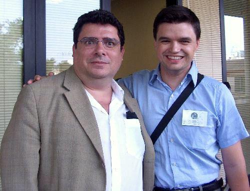 El autor con Rafael Marín