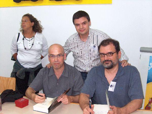 Con Javi Negrete y Juanmi Aguilera